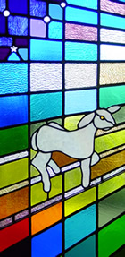 stained glass - lamb